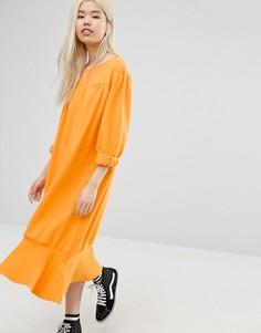 Свободное платье с асимметричным краем STYLENANDA - Оранжевый