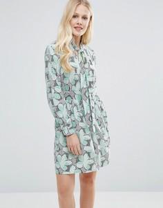 Платье с цветочным принтом и завязкой на бант Closet - Мульти