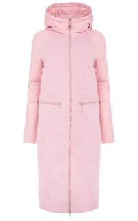 Комбинированное пальто на натуральном пуху Malinardi