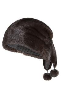 комбинированная шапка с мехом норки Slava Furs