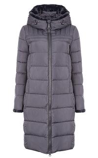 утепленное пальто с отделкой искусственным мехом Clasna