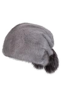шапка из меха норки и лисы Slava Furs