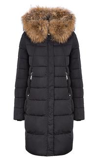 утепленное пальто с отделкой мехом енота Malinardi