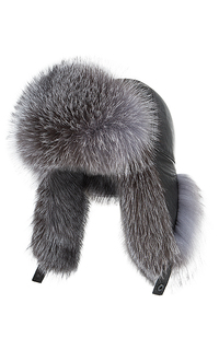 шапка-ушанка с мехом лисы Polina Furs