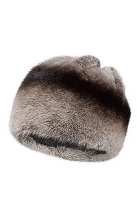 шапка из меха норки и натуральной кожи Slava Furs
