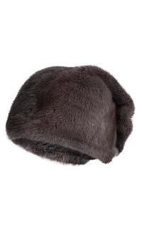 шапка из меха норки с декором Slava Furs