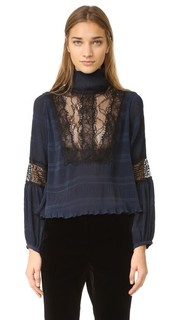 Блуза с складками McKinney Ganni