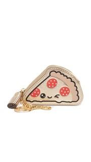 Кошелек для монет с брелоком для ключей и изображением куска пиццы Anya Hindmarch