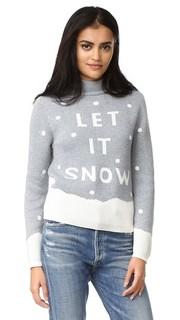 Свитер Let It Snow в технике интарсия Minkpink