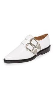 Ботинки на шнурках с пряжками Toga Pulla