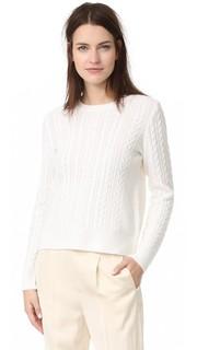 Кашемировый свитер с округлым вырезом Jenni Kayne