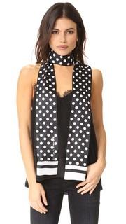 Длинный узкий шарф в горошек Kate Spade New York