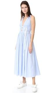 Длинное платье без рукавов в полоску No. 21
