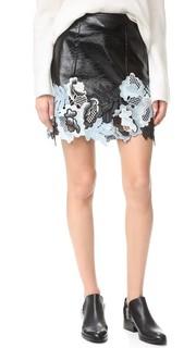 Кружевная юбка из винила 3.1 Phillip Lim