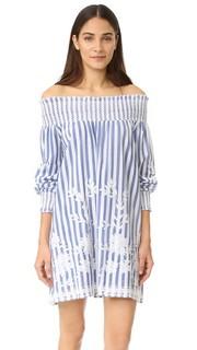 Платье в полоску с открытыми плечами Juliet Dunn