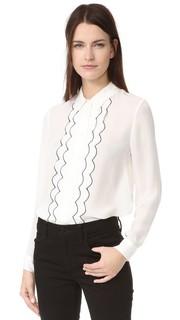 Рубашка в мужском стиле с зубчатой отделкой Jenni Kayne
