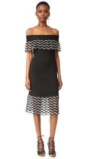 Платье с открытыми плечами Lela Rose