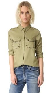 Рубашка из тенсела с заклепками Scotch & Soda/Maison Scotch