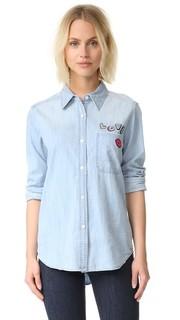 Рубашка на пуговицах Love с накладным карманом Rails