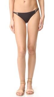 Плавки бикини с низкой талией Amber с бусинами