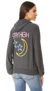 Толстовка с надписью «Stay High», с капюшоном и молнией Wildfox