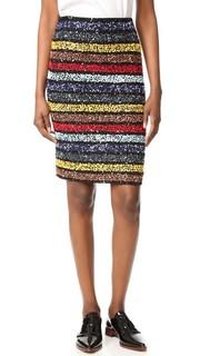 Приталенная юбка Ramos, расшитая блестками Alice + Olivia
