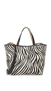 Объемная сумка с короткими ручками Eloise из кожи с коротким ворсом Elizabeth and James