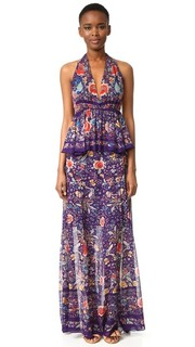 Макси-платье с американской проймой Roberto Cavalli