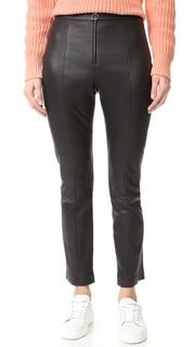 Кожаные брюки T by Alexander Wang