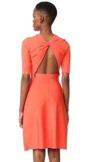 Платье с открытой спиной и перекрученным элементом Victoria Victoria Beckham