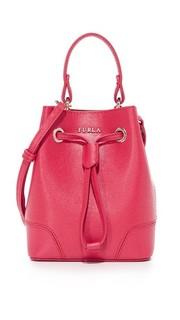 Миниатюрная сумка-ведро Stacy с завязками Furla