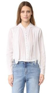 Блуза на пуговицах с прорезями Intropia