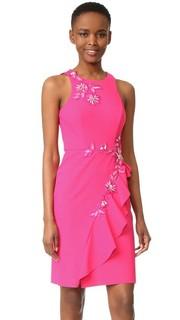 Коктейльное платье с драпировкой Marchesa Notte