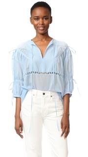 Блуза с V-образным вырезом No. 21
