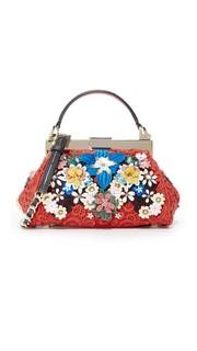 Миниатюрная кружевная сумка Scarlet с цветочным рисунком Alice + Olivia