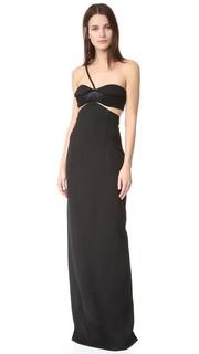 Вечернее платье-бюстье Brandon Maxwell