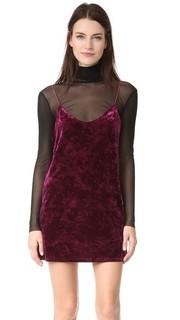 Велюровое платье-комбинация Only Hearts