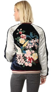 Бомбер с цветочной вышивкой Free People