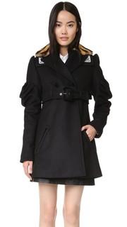 Пальто-тренч с оборчатыми рукавами Kenzo