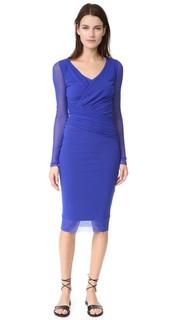 Платье с длинными рукавами и V-образным вырезом Fuzzi