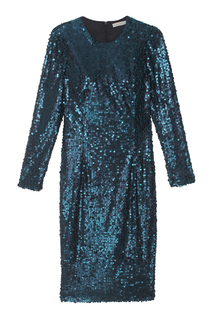 Шелковое платье с пайетками Daria Bardeeva
