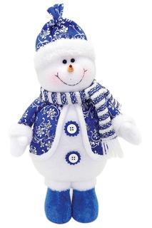 Кукла Снеговик 30 см, син. НОВОГОДНЯЯ СКАЗКА