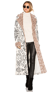 X revolve margeaux coat with faux fur - House of Harlow 1960