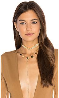 Ожерелье из нескольких цепочек disco queen - Frasier Sterling