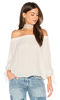 Off shoulder tie top - maven west