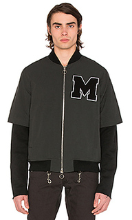 Layered varsity jacket - Midnight Studios