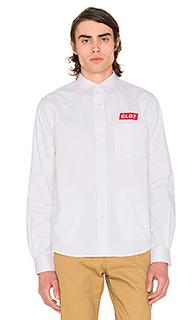 Рубашка на пуговицах box logo - CLOT