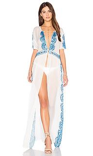 Макси платье с вышивкой - Tessora