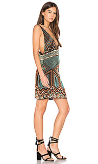 Beaded v neck dress - Tessora