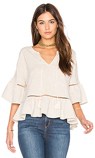 Ruffle lattice top - maven west